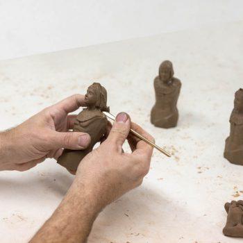 Modelado de figuras de arcilla